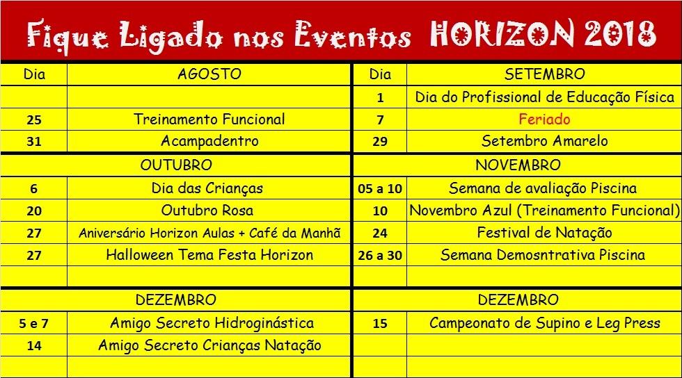 Eventos Academia Horizon